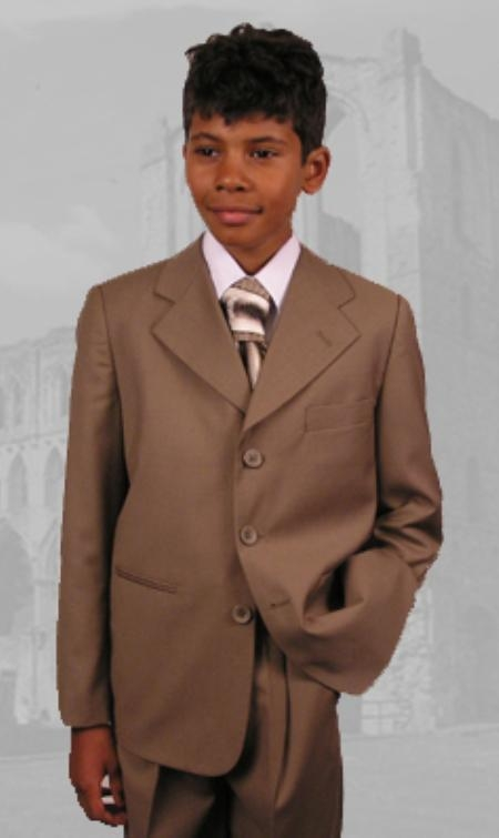 Kids B100 Camel ~ Boys Dress Suit Hand Made Perfect for toddler wedding  attire outfits