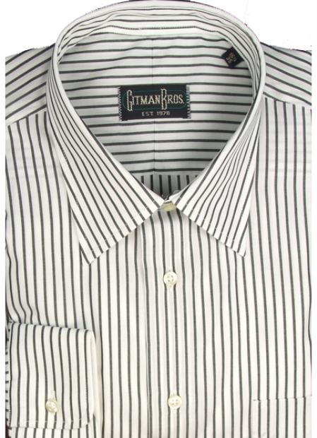 Gitman Brothers Bankers Stripe Two Collar Styles $90