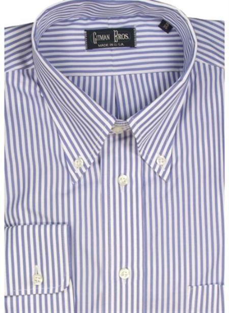 Gitman Brothers Bengal Stripe Two Collar Styles $90