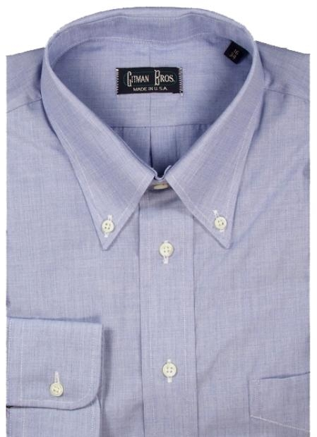 Gitman Brothers End On End Weave Two Collar Styles $85