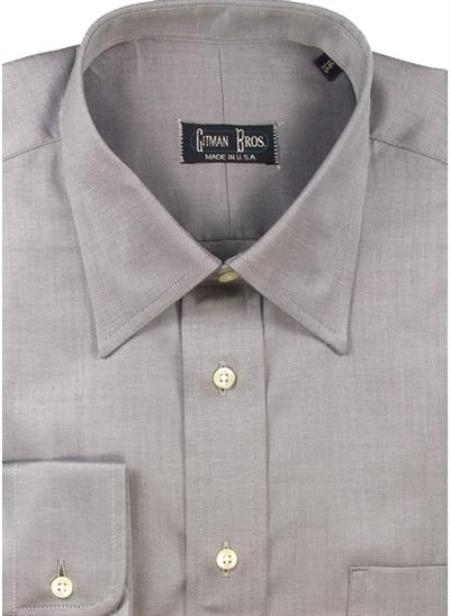 Gitman Brothers Fine Line Twill Modified Spread Collar Charcoal On Sale: $94