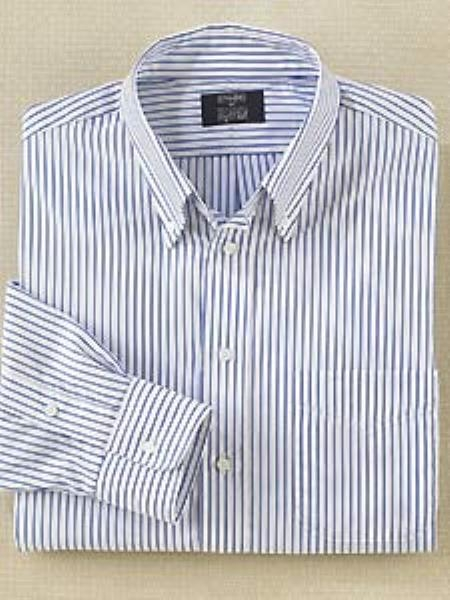 Gitman Brothers Long Sleeve Repeat Stripe Button Down Collar Dress Shirt $99