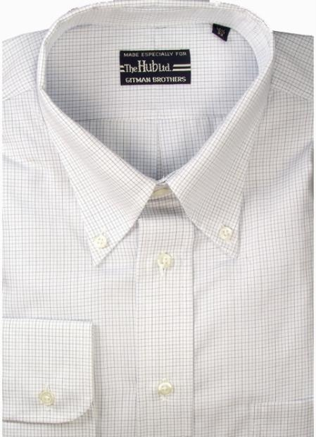 Gitman Brothers Mini-Tattersal Check Two Collar Styles $90