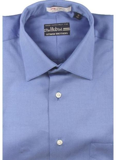 Gitman Brothers Pinpoint Oxford Five Collar Styles French blue On Sale: $74