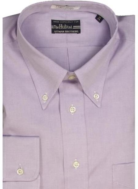 Gitman Brothers Pinpoint Oxford Five Collar Styles Lavender On Sale: $74