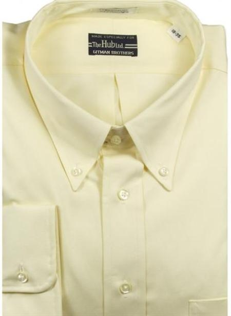Gitman Brothers Pinpoint Oxford Five Collar Styles Yellow On Sale: $74