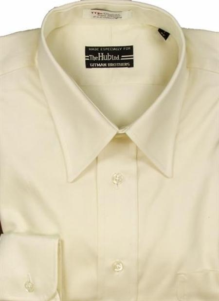 Gitman Brothers Pinpoint Oxford Five Collar Styles ecru On Sale: $74
