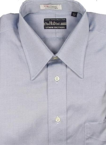 Gitman Brothers Pinpoint Oxford Five Collar Styles Light Blue On Sale: $74
