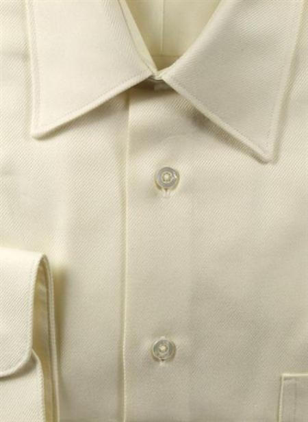 Gitman Brothers Raised Twill Modified Spread Collar ecru On Sale: $80