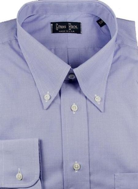 Gitman Brothers Shepherds Check Two Collar Styles $90