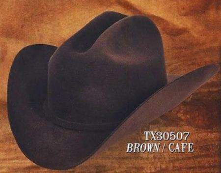 Tejana Cowboy Western Hat 4X Felt Hats Brown
