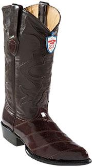 Wild West Brown Eel Cowboy Boots - Botas De Anguila