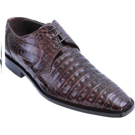 Brown Dress Shoe Full Gator Belly Dress Shoe – Brown