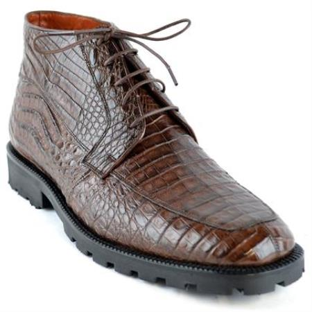 High Top Gator Skin Shoe –Brown
