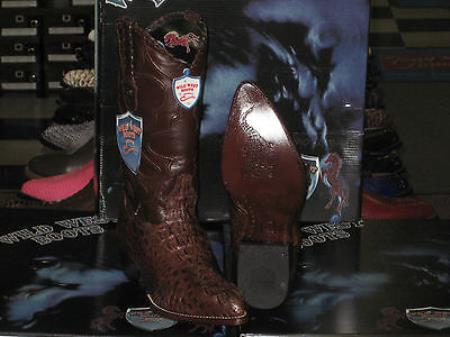Wild West Brown Genuine Crocodile ~ World Best Alligator ~ Gator Skin Western Cowboy Dress Cowboy Boot Cheap Priced For Sale Online(D)