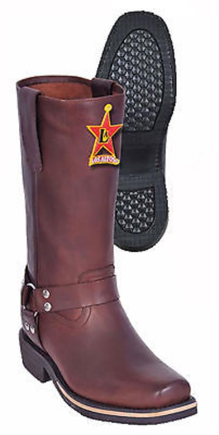 Genuine Leather Brown Los