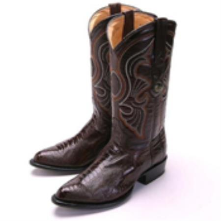 Los Altos Brown R-Toe Genuine Ostrich Leg