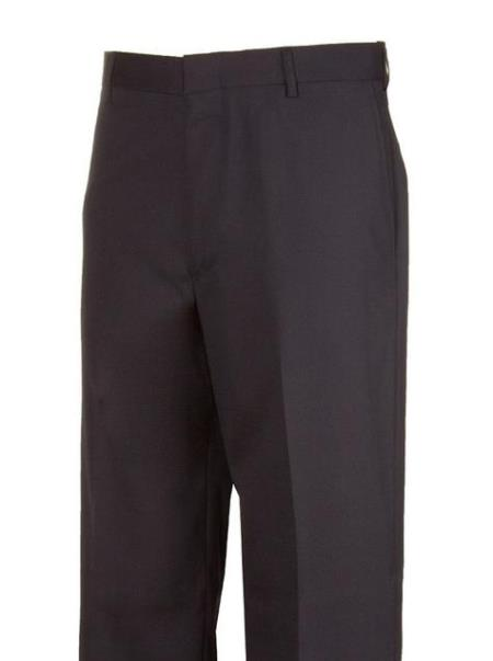 Legacy Fit Brown Plain Dress Pants unhemmed unfinished bottom