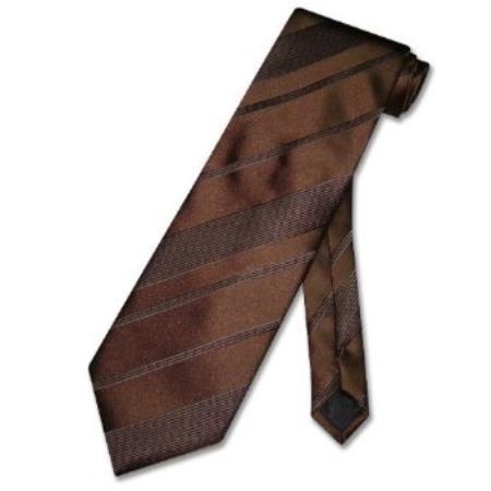 Dark Brown Woven Mens Design Neck Tie