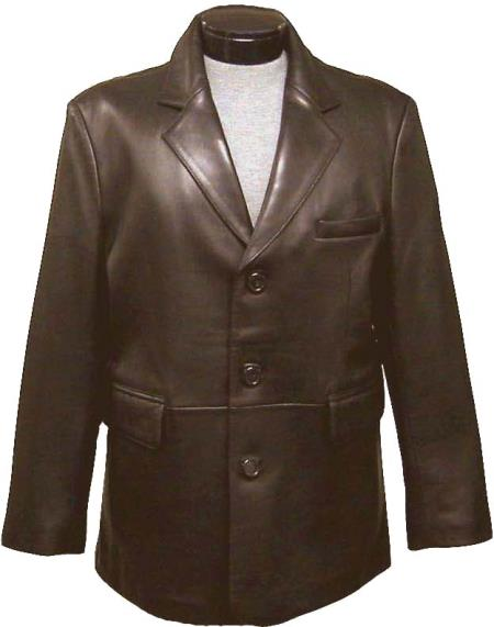 mens classic Three buttons Notch Lapel blazer (brown split) tanners avenue jacket