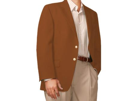 Two Button Blazer dark-brown