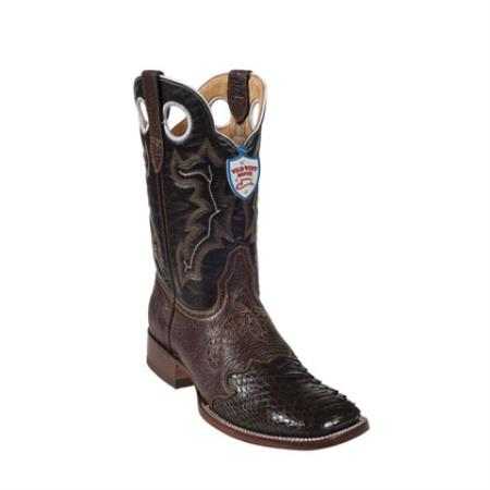 Wild West - Dress Cowboy Boot Cheap Priced For Sale Online Ostrich Leg Wild Ranch Toe - Brown - Botas De Avestruz