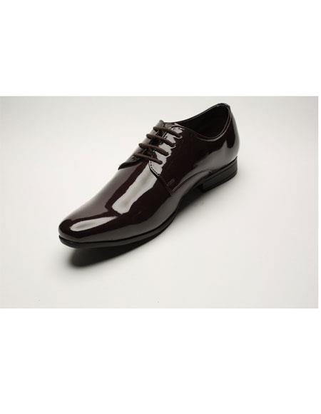 Mens Two Toned Fashion Brown Wing Tip Dress Shoes