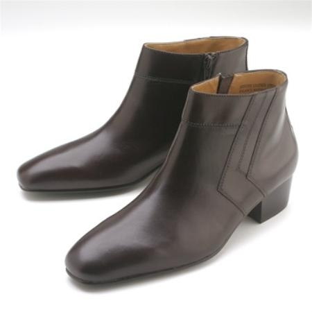 SKU#JL633 Brown Calfskin Demi Boot $750
