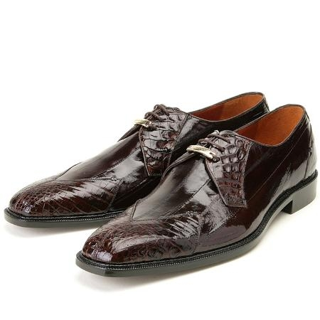 SKU#CK807 Brown, Genuine Eel/Crocodile by Belvedere $279