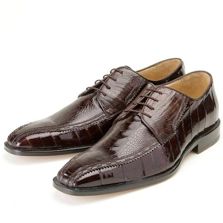 SKU#BY567 Brown, Genuine Ostrich/Eel by Belvedere $259