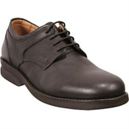 SKU# UYS239 Brown Plain-toe four eyelet blucher with soft leather upper