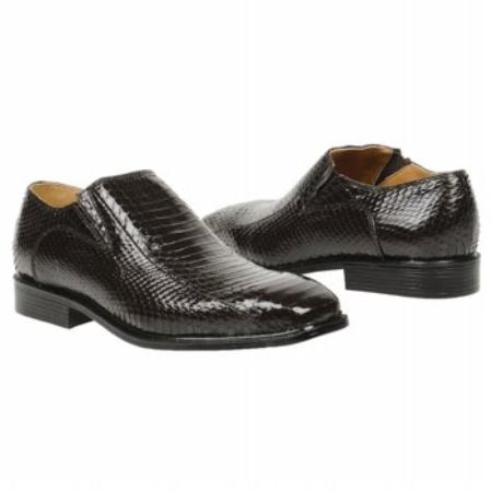 MensUSA.com Brown Snake Embossed Leather Shoes(Exchange only policy) at Sears.com