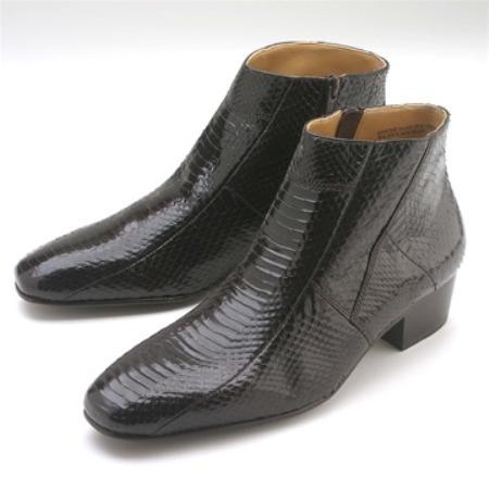 SKU#BVN881 Brown Snakeskin Demi Zip Boot $139