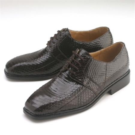 SKU#BL633 Brown Snakeskin Lace-Up $750