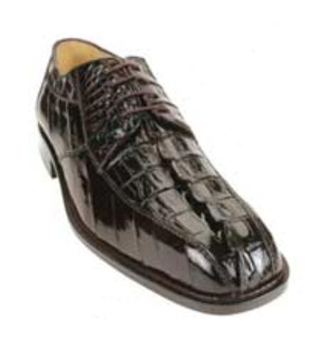 Belvedere Bruno made of Crocodile Hornback and Eel in Brown $319