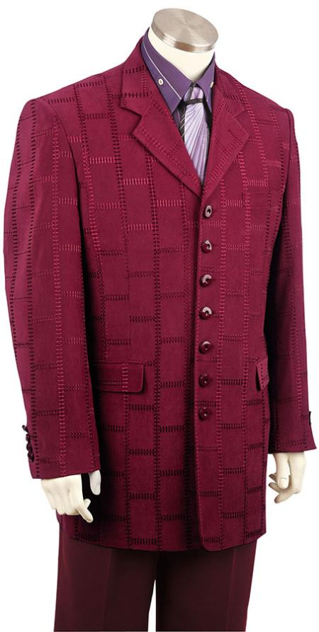 1960s Men's Clothing, 70s Men's Fashion Mens Casual Leisure Suit Burgundy  Wine  Maroon  Raisin $170.00 AT vintagedancer.com