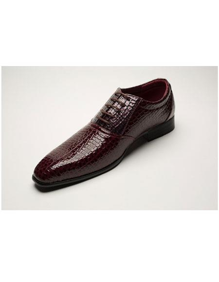 Men's Two Toned Lace Up Maroon Dress Shoe