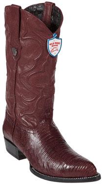 Maroon ~ Wine Color Teju Lizard Cowboy Boots