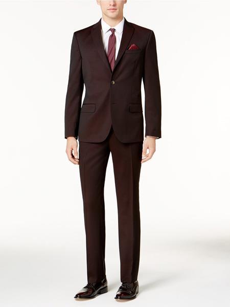 Buy JS306 Mens Slim Fit Burgundy ~ Wine ~ Maroon Color ~ Maroon Tuxedo