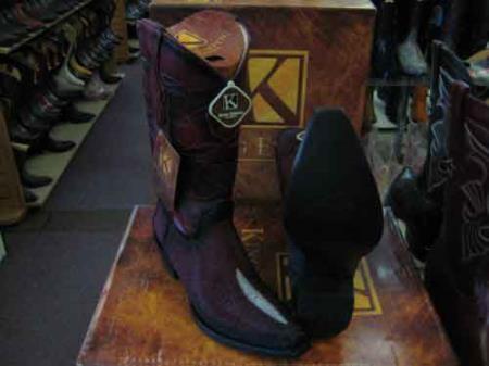 Exotic Burgundy Western Cowboy