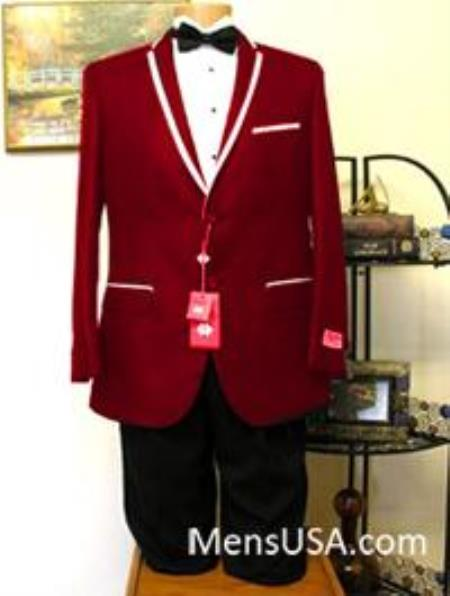 Burgundy 2 Button Two