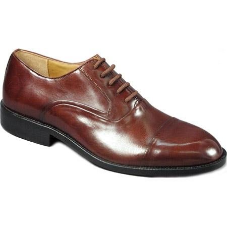 SKU# 65444 Burgundy Classic cap-toe lace-up in hand-finished leather with genuine leather sole $99