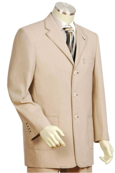SKU#FD3651 3 Button Brownpaper Mens Suit $275