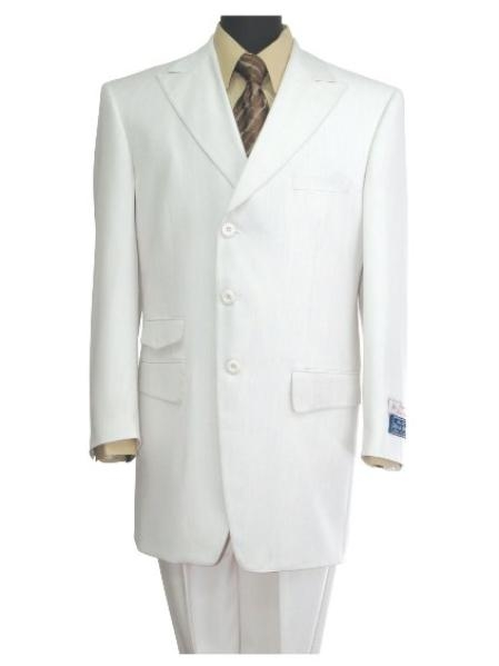 SKU#TE432 3 button, Center Vent Peak Lapel Fashion Suits