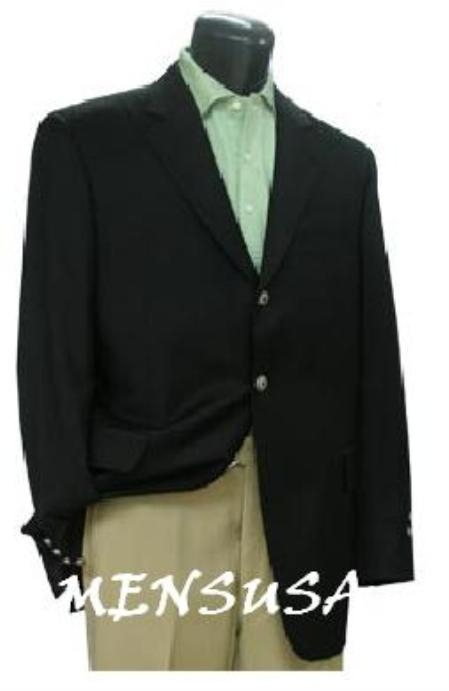 SKU# ZD3 3 Button Textured Wool Blazer with Metal Buttons $159