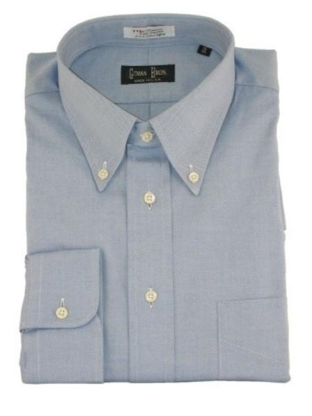 Gitman Button Down Pinpoint Oxford Dress Shirt-Blue Price: $82.00 Sale Price $65