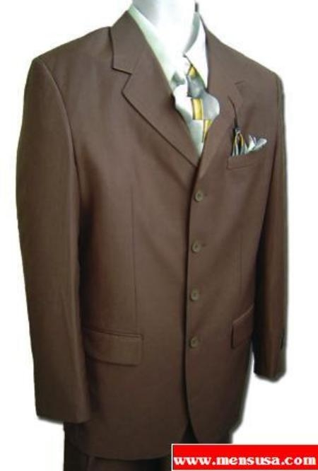 SKU# 4 Button Super 150s Wool CoCo Brown Wool $199