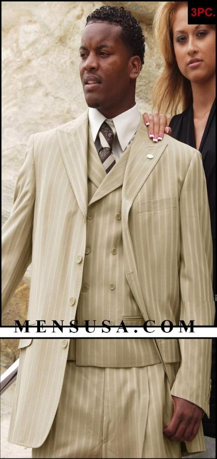 SKU# Act_H63SF  3 Buttons Jacket With Wide Leg Pants With Double Breasted Vest in 3 Colors $159
