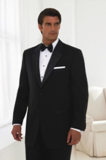 SEU#ZJ091 MENS 2 BUTTON TUXEDO SUPER 150S WOOL NOTCH LAPLE Jacket + any size pants (Tuxedo Separate) $199