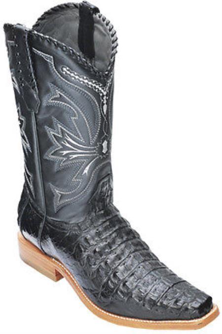 Buy KA5879 caiman ~ alligator Croc Black Los Altos Men's Cowboy Boots Western Classics Riding